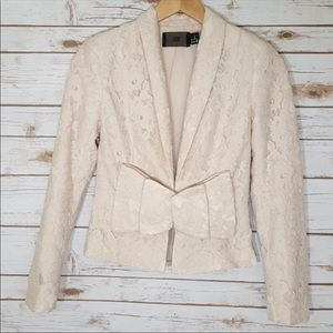Cream color lace jacket with bow!
